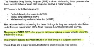 Does not test impairment