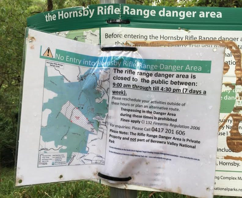 GIPA re Hornsby Rifle Range and Great North Walk Closure